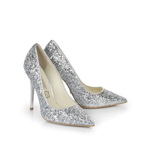silver sparkly shoes buffalo glitter pumps in silver buy in buffalo