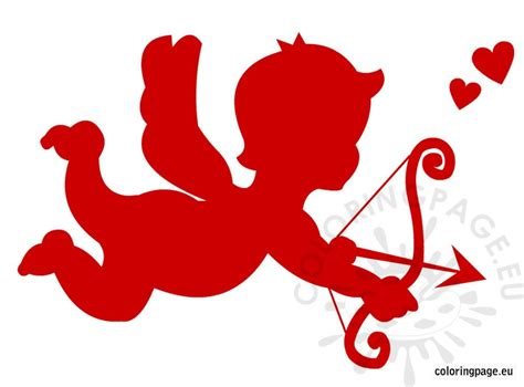 cupid clipart coloring page