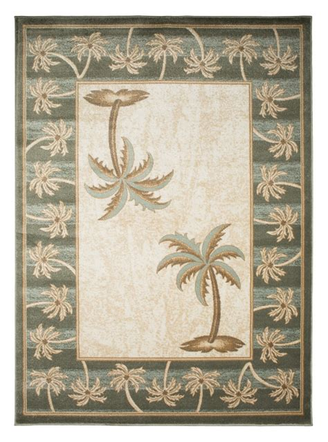 palm tree throw rugs biege bone bahamas palm tree rug 2320 bahamas rugs