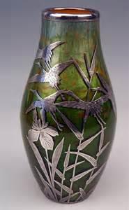 vase loetz widow nouveau titania gre 2534 with silver