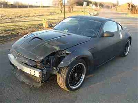wrecked nissan 350z for sale find used nissan 350z 6spd salvage rebuildable repairable
