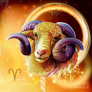 Duvet Full Horoscope Signs Aries Digital Art By Peter Awax