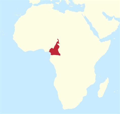 cameroon in world map cameroon africa map my