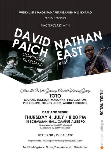 Kaos Purple Dp 04 masterclass with david paich and nathan east july 2013