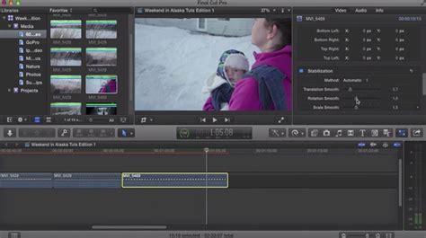 final cut pro stabilization how to stabilize video in final cut pro x