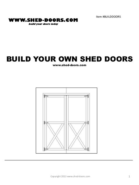 Barn Door Slide Build Your Own Shed Doors