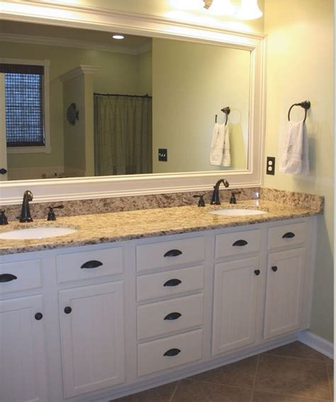 Bathrooms With White Cabinets Bathroom White Cabinets Framed Mirror Master Bathroom Remodel Pinterest Cabinets Framed