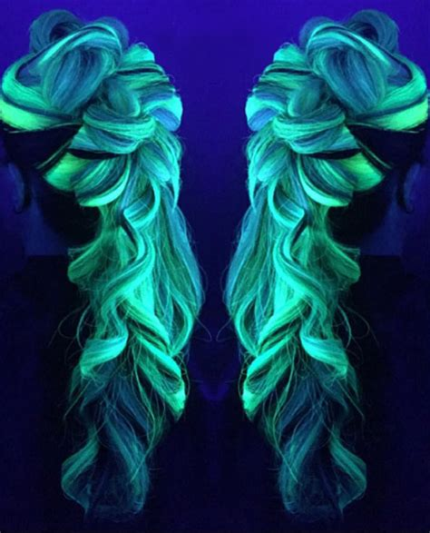 glow under black light now your rainbow hair can glow in the dark under black