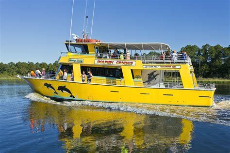 glass bottom boat tours alabama orange beach dolphin sunset cruises the wharf tripshock