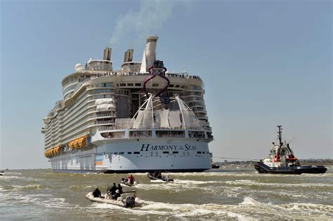 largest cruise ship largest cruise ship ever sets sail for maiden voyage