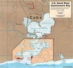 us naval base at guantanamo bay map guantanamo bay cuba