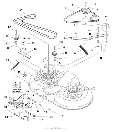 simplicity mower deck diagram simplicity 1694048 40 quot mower deck parts diagram for 40