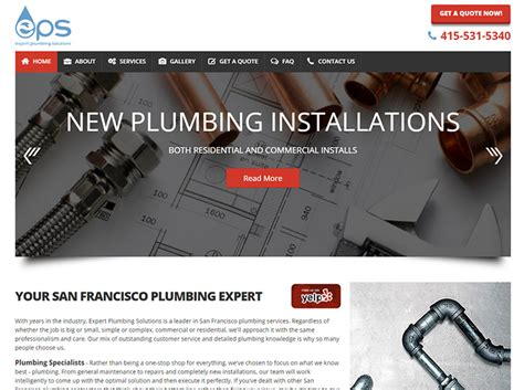 Waterworks Plumbing And Drains Inc by 100 Plumbing Websites For Design Inspiration