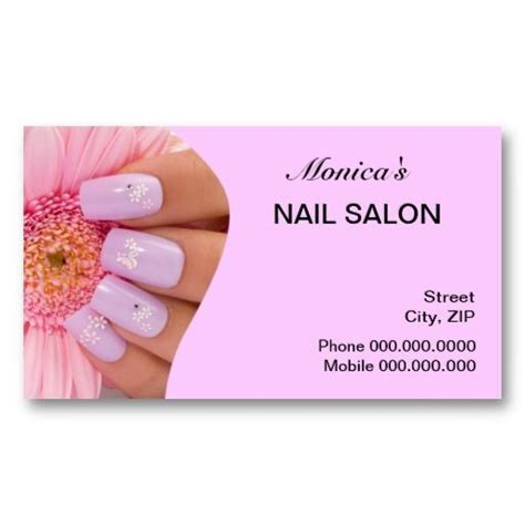 manicure business cards templates business card templates for nail salon planmade