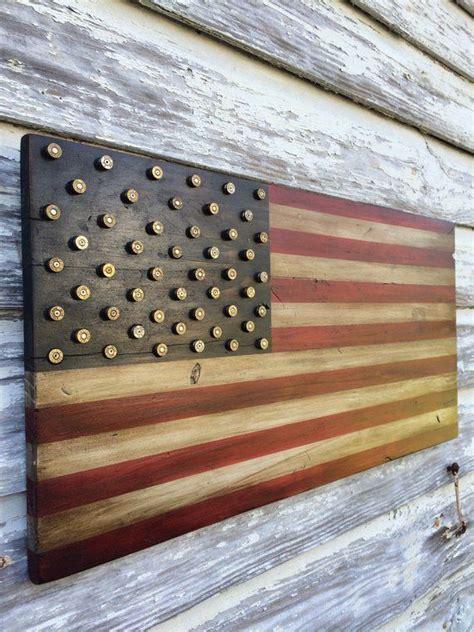 military  amendment wood american flag  brass bullet