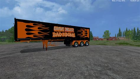 volvo truck trailer grave digger truck trailer volvo truck trailer for ls15