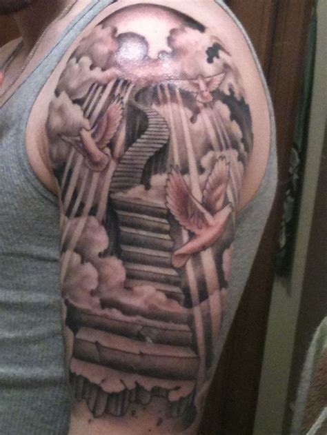 stairway tattoo designs sleeve stairs search tattoos