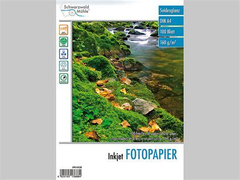 seitenpreis katalog layout schwarzwald m 252 hle 100 bl inkjet fotopapier seidenglanz