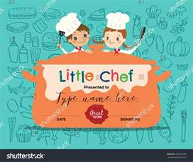 cooking certificate template cooking class certificate design template with