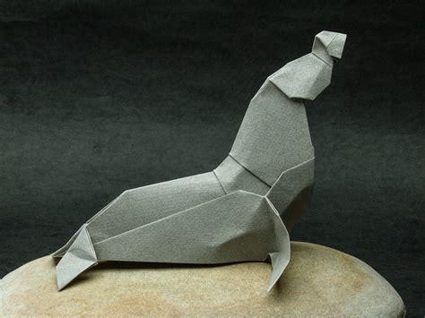 Walrus Origami - zing origami arctic marine animals