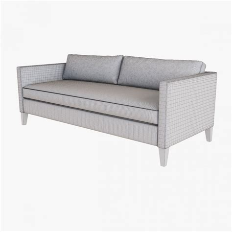 west elm dunham sofa west elm dunham down filled sofa box cushion 3d model