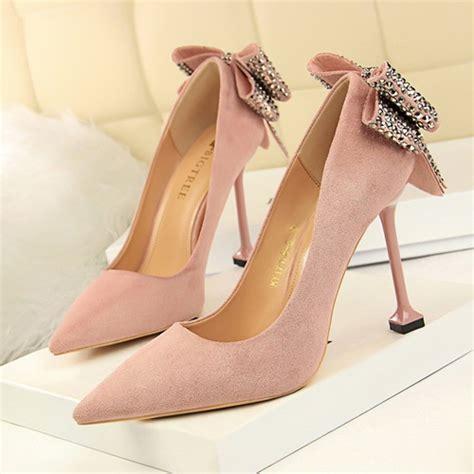 Sepatu Heels Pita Payet Import jual shh171758 pink sepatu heels pita wanita 9 5cm grosirimpor
