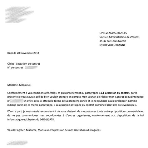 Modification Contrat De Travail Apres Cession by Lettre Annulation De Contrat Lettre De Rupture De Contrat