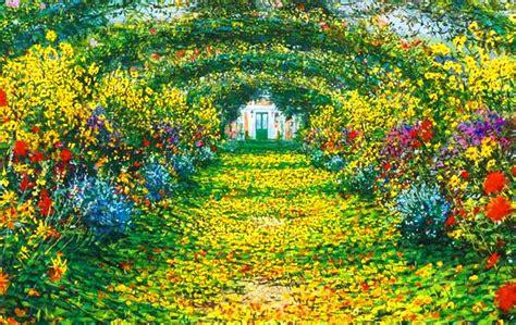 imagenes de paisajes jardines monet garden giverny paisaje de primavera cuadro oleo