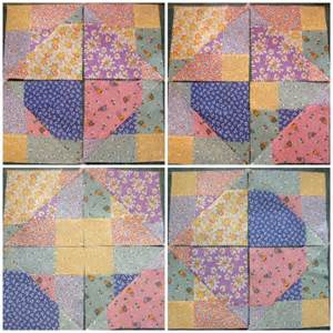 disappearing 9 patch quilt block criss cross cut