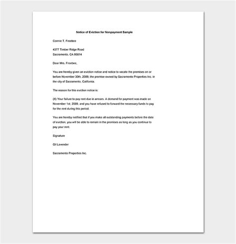 Eviction Notice 24 Sle Letters Templates Formal Eviction Letter Template
