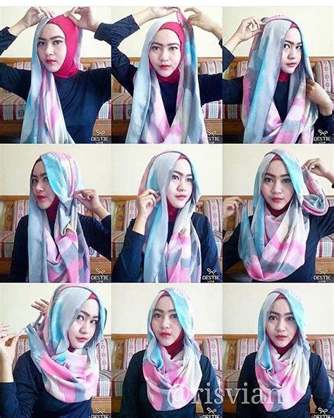 tutorial berhijab yg simple cara memakai hijab style modern simple terbaru mudation com