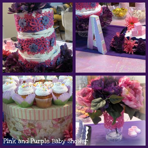 Pink And Purple Baby Shower Theme by Everything Sweet B Is For Baby A Pink And Purple Baby Shower