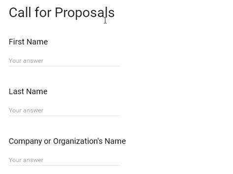 Call For Proposals Template form template call for proposals form w3resource