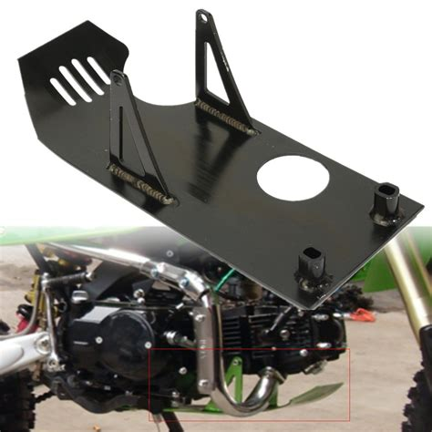 black pit bike skid plate engine motor protect for honda crf50 xr50 crf xr 50 2000 2007 aluminum