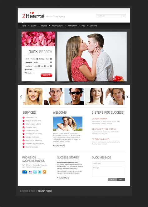 dating website template 35864