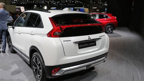 mitsubishi crossover white mitsubishi eclipse to cross geneva with awd turbo power