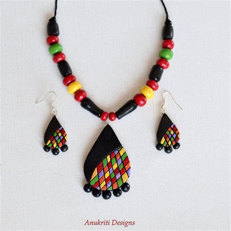 Handmade Clay Jewellery - indian jewelry polymer clay jewelry handmade jewelry