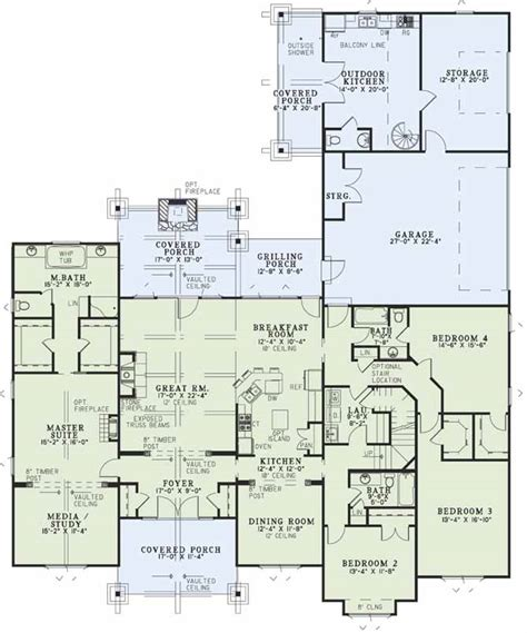 house plans with media room luxury style house plans 4501 square foot home 2 story