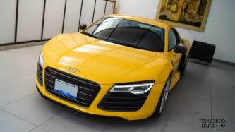 Audi R8 Yellow Photo Of The Day Yellow Audi R8 V10 Plus In Mexico Gtspirit