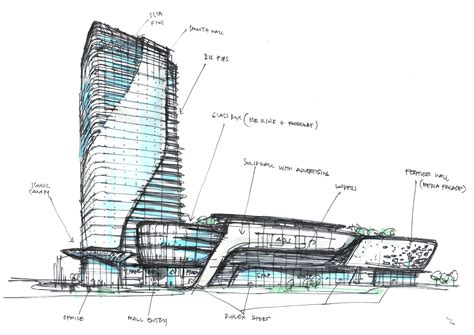 dwg projects arch design drawing pinterest hotels mixed use concept i randy carizo architecture sketches l