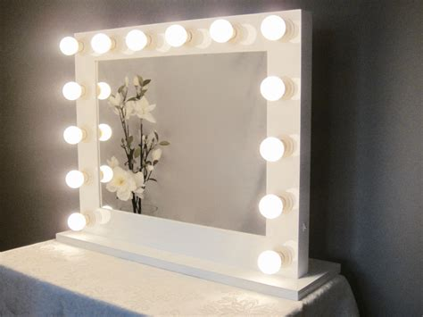 Vanity Mirror With Lights Grand Lighted Vanity Mirror W Led Bulbs By Impactvanity