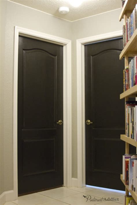 How To Paint Interior Doors Painting The Interior Doors Black