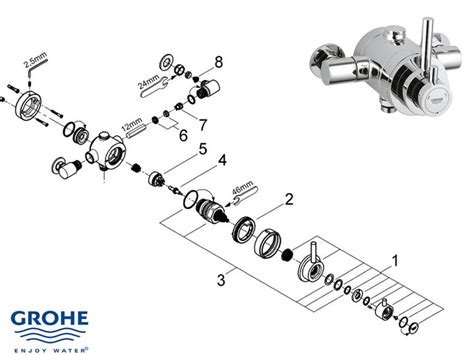 Grohe Showers Spare Parts by Grohe Avensys Modern Exposed 34222 000 Shower Spares And