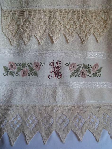 tende lilla glicine lavanda e lill 224 asciugamano con bordo all uncinetto