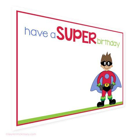 superman birthday card template birthday card birthday gift tags and card