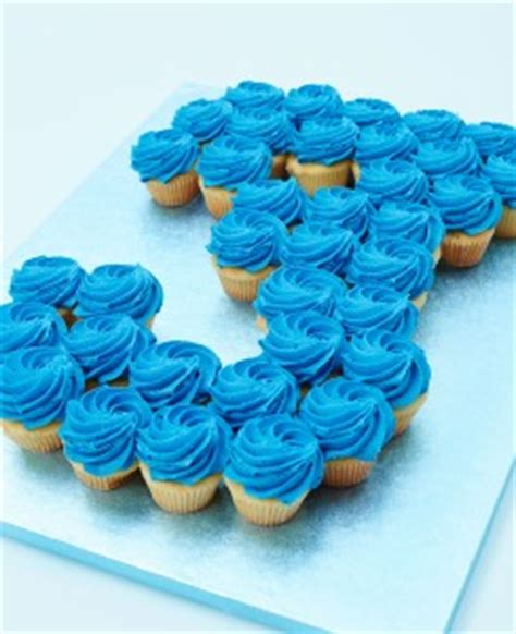 buy single colour cupcake number cakes  lolas cupcakes