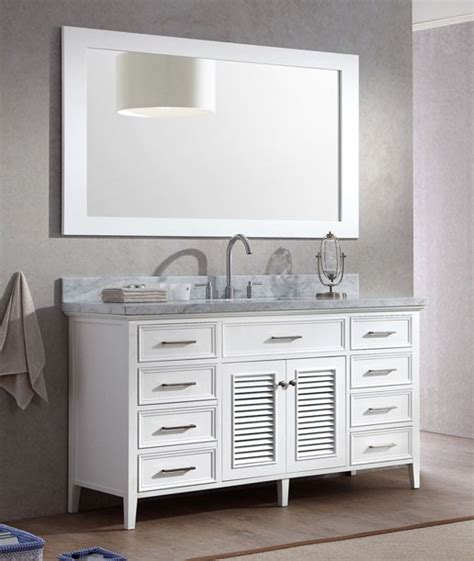 ariel kensington single 61 inch transitional bathroom