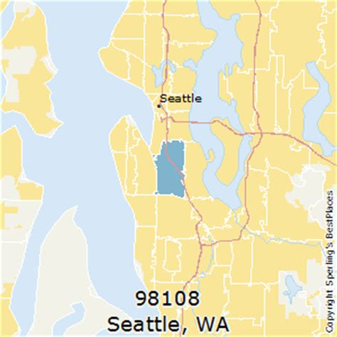 zip code maps seattle best places to live in seattle zip 98108 washington