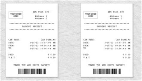 parking receipt template