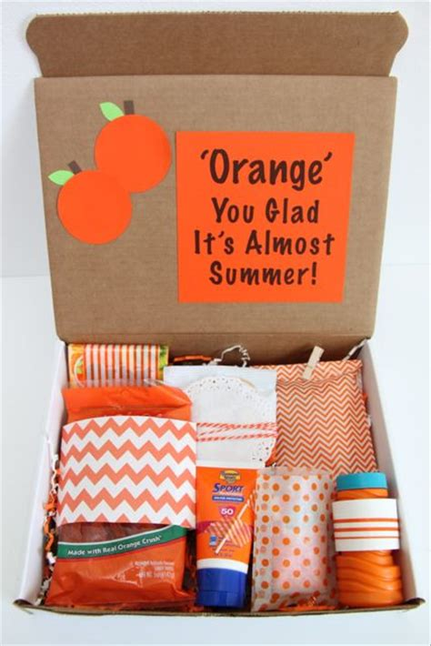 happy mail orange you glad it s almost summer gift idea